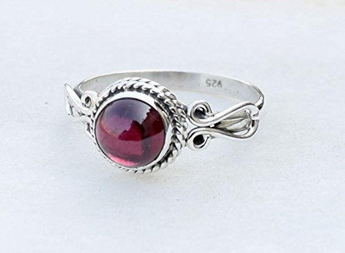 Garnet Ring - 925 Sterling Silver Stone Ring For Girl Women Gift Ring Jewelery All Size L M N O P Q R S T U V W X Y Z