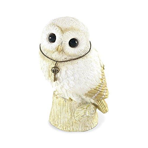 - Comolife Lucky Motif Piggy Bank , Cute Owl , Color: White And Gold , Natural Design
