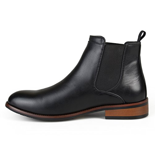 Vance Co. Mens Faux Leather High Top Round Toe Chelsea Dress Boots Black top quality cheap price cheap get to buy discount codes clearance store 9JMsGeK4tz