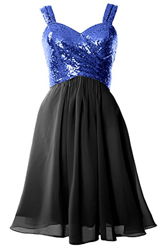 Blue Royal Back Sequin Gorgeous MACloth Formal Dress Black Gown Cowl Cocktail Bridesmaid Short wTPO4xgq