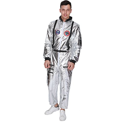 (EraSpooky Men's Astronaut Costume Spaceman Suit Halloween Adult Costumes for Men - Funny Cosplay)