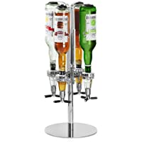 Rotary 4 Bottle Stand - bar@drinkstuff | Rotating Drinks Dispenser, Optics Dispenser for Spirits