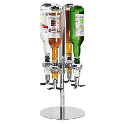 Rotary 4 Bottle Stand - bar@drinkstuff   Rotating Drinks Dispenser, Optics  Dispenser for Spirits