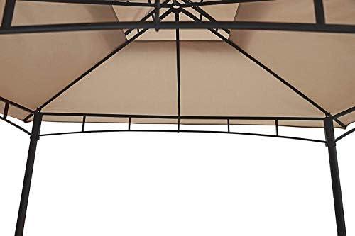 Sekey Cenador para Jardin Impermeable Carpa de Jardín de 235 x 145cm, Pabellón de Jardín para Parrillas/Fiestas/Picnics/Barbacoas, UV50+, Taupe