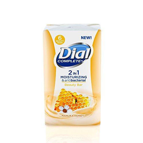 Dial Complete 2 in 1 Moisturizing & Antibacterial Beauty Bar, Manuka Honey, 3.8 Ounce, 6 Bars