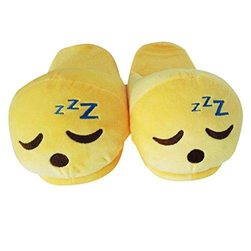 Emoji Emoticon Zapatillas Cómodo Térmica Vellocino Invierno Casa Zapatos Dormer