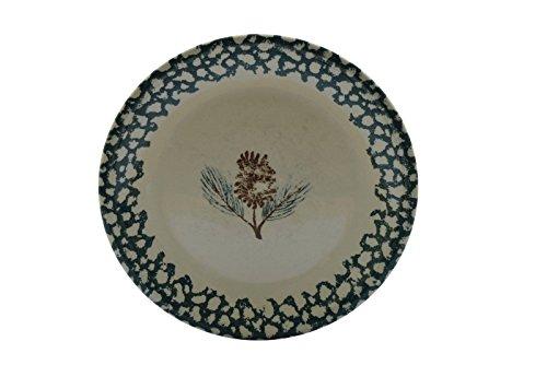 "Folk Craft Tienshan Pine Cone Dinner Plate 10.25"""