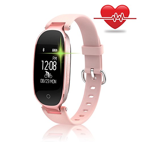 WOWGO Fitness Tracker, Women Sport Tracker Smart Watch Band Bracelet, Heart Rate...