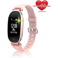 Fitness Tracker, Women Sport Tracker Smart Watch Band Bracelet, Heart Rate Monitor Smart Bracelet,Wristband Watch with Health Sleep Activity Tracker Pedometer for Smart Phone