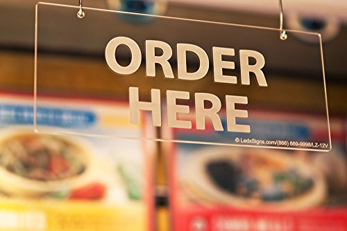 Hanging Sign (Order Here Frost) Order Counter