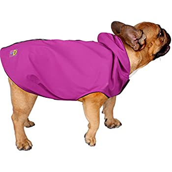 Jelly Wellies Premium Quality Waterproof Reflective Deluxe Raincoat with Polar Fleece Lining for Dogs- X-Small, Pink