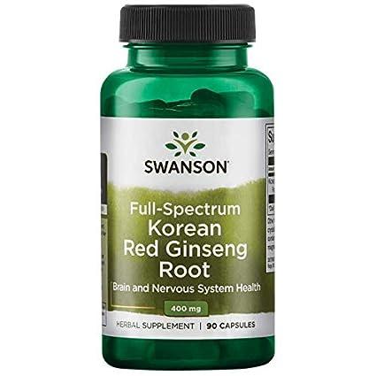 Swanson - Panax Ginseng Rojo Coreano 400mg, 90 Cápsulas (Full Spectrum® Korean Ginseng