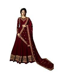 ziya Readymade Ethnic Indian Pakistani Anarkali Salwar Kameez for Women Glossy Sky Blue