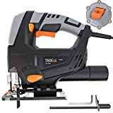 Jigsaw Tool, Tacklife 570W Saw, 800-3000SPM, Cutting Wood 65mm/Metal 8mm, 3M Power Cord, Pure Copper Motor, Cutting Angle -45°- 45°, Orbit (1-4), 6 Variable Speed, Quick Blade Change