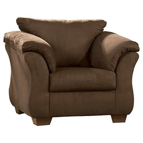 Ashley Furniture Signature Design - Darcy Chair with Loose Seat Cushion - Ultra Soft Upholstery - Contemporary - Cafe Brown