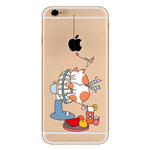 Funda iPhone 6 Plus Funda iPhone 6S Plus Carcasa Silicona Transparente Protector TPU Ultra-delgado Anti-Arañazos Chica Case para Teléfono Apple Caso Caja Estuche Golpe de pelo