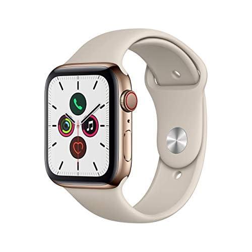 chollos oferta descuentos barato Apple Watch Series 5 GPS Cellular 44 mm Acero Inoxidable en Oro Correa Deportiva