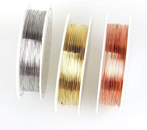 3 M 1.0 mm 18 Calibrador de alambre de cobre Artesanía fabricación de joyas elige que color