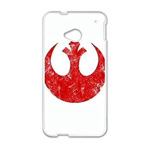 HTC One M7 Cell Phone Case White Rebel Alliance Logo carved cell phone case bgk7172938