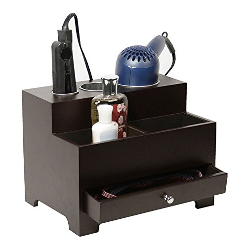 Personal  Hair Styling Organizer Espresso Brown