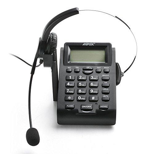 AGPtek® Call Center Dialpad Headset Telephone with PC Recor