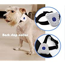 Best Tech Anti-bark Training Pet Collar Bark Collar - Pet Leash Collar -Ultra sound Pet Behavior Deterrent - Bark Control Anti Bark Collar Tool Trainer for Small Medium Dogs
