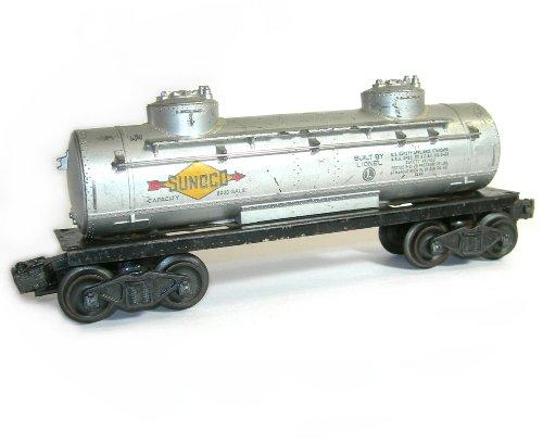 Vintage 1952 1956 Lionel Postwar O O 27 6465 Sunoco Tanker Model Train Car