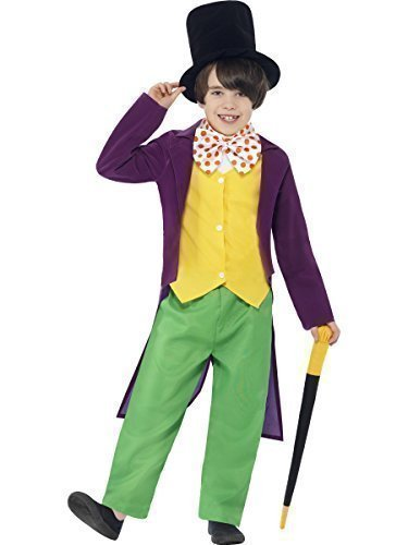 [Boys Roald Dahl Willy Wonka Character Charlie & The Chocolate Factory Age 10-12] (Willy Wonka Costume)