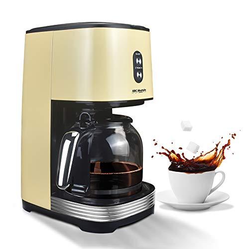 ABC Lifestyle – Cafetera de filtro de 1,5 L, acero inoxidable, 12 tazas, filtro permanente INCL, rápido, cuchara…