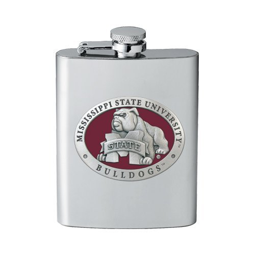 1pc, Pewter Mississippi State University Flask (Chimes Wind Mississippi)