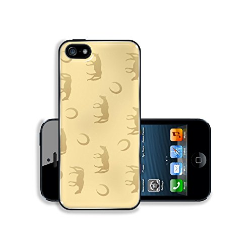 luxlady-premium-samsung-galaxy-s5-aluminium-snap-case-brown-horse-texture-with-horseshoe-and-silhoue