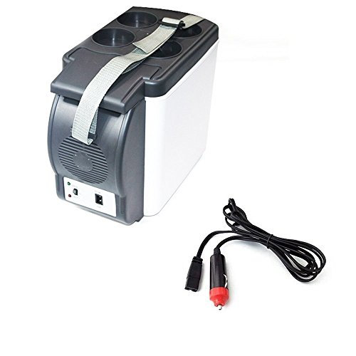 UniversalD® - 6L 12V Mini Car Small Refrigerator Camping Fridge Electric Cooler and Warmer Box
