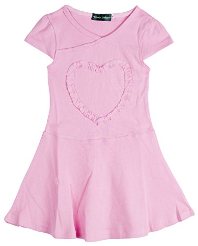 Teen Girls' Ruffled Love Heart Dress Heart-shaped Cotton Tunic 10 (Girls Ruffled Tunic)