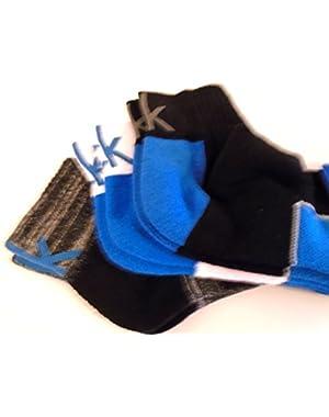 Calvin Klein Cotton Coolpass Blend 3 Pairs Quarter Athletic Socks (7-12)