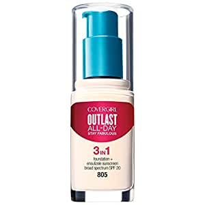 COVERGIRL Outlast All-Day Stay Fabulous 3-in-1 Foundation Ivory, 1 oz (Packaging May Vary)