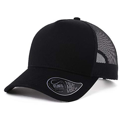 - Adjustable Mens Womens Trucker Baseball Cap Cotton Dad Hat Outdoor Sports Running Camping Hiking Hunting Snapback Black