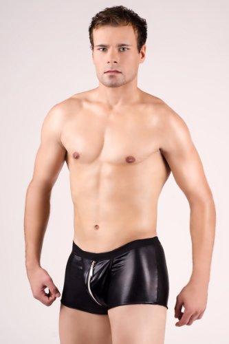 glänzende Herren-Boxershort * mit Reißverschluss - Gr. S M L XL XXL Boxer Slip Short (900232 L/XL)