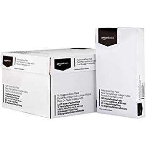 AmazonBasics Multipurpose Copy Printer Paper – White, 8.5 x 11 Inches, 3 Ream Case (1,500 Sheets)