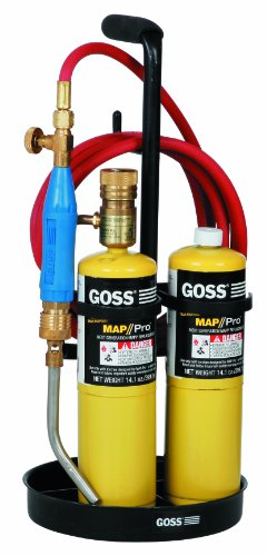 Goss Air - Goss KP-26L Air Propane Sidewinder Kit with Snap-in Handle, Igniter Tip and Stand