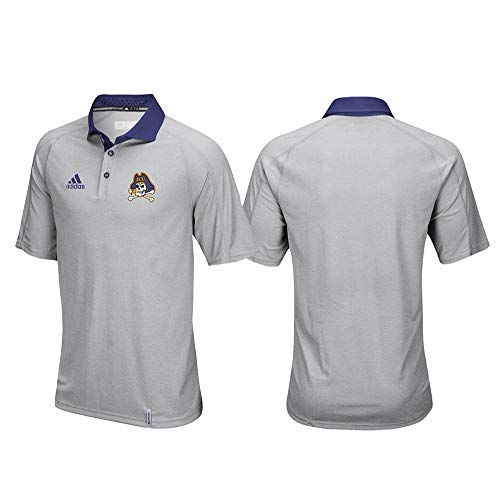 adidas East Carolina Pirates NCAA Men's Sideline Climachill Performance Grey Polo Shirt ()