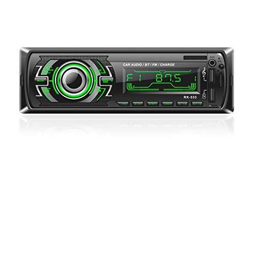 Bosszi Car Stereo Bluetooth, 4x60W 1 Din Car Radio FM Radio, Bluetooth Hands-free Receiver Car MP3 Player with Steering…