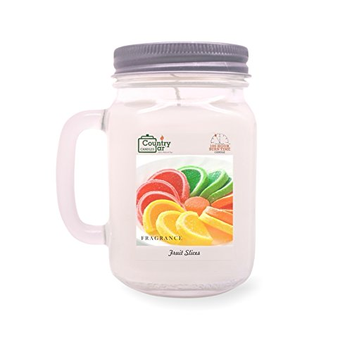 Soy Slice (Country Jar Fruit Slices Soy Candle (14 oz. Mason-Carry Jar) [+] 15%-20% Off Entire Catalog! Mix or Match!)