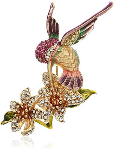 Napier Women's Classics Multicolored Hummingbird Flower Brooches and Pin ()