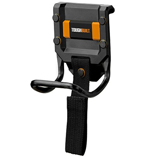 - ToughBuilt - Modular Hammer Loop | Durable Hammer Holder/Holster/Catch Clips on any Belt or Pocket, Extreme-duty Steel Loop/Metal Ring, Unique Power Cord Mgmt, Heavy-duty Construction (TB-52)