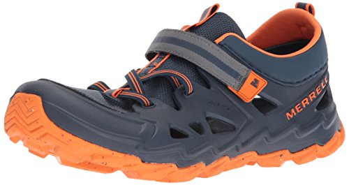 (Merrell Kids' Hydro 2.0 Sandal, Navy/Orange, 3 Wide US Little Kid)