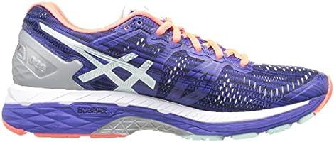 New Asics Womens Running Shoe Gel-Kayano 23 Lite Show Blue Silver Flash Coral