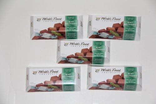 World's Finest Chocolate - Mint Meltaways - 5 pack, 2.75oz