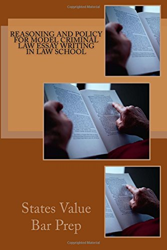 Download Reasoning and policy for model criminal law essay writing in law school pdf epub