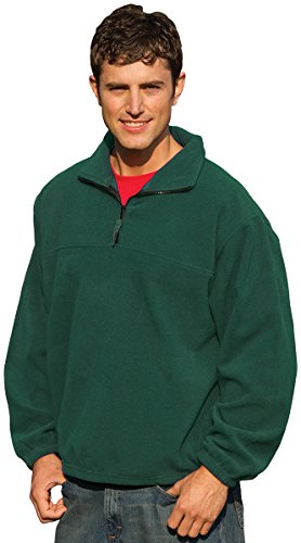 Inner Harbor Adult Poly Micro-Fleece 1/4-Zip Pullover (Hunter Green) (4X) Adult Micro Poly Pullover Jacket