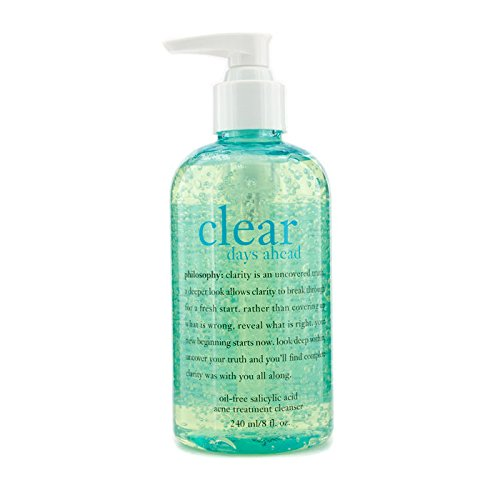 Philosophy Clear Days Ahead Oil-Free Salicylic Acid Acne Treatment Cleanser, 8 Ounce by Philosophy